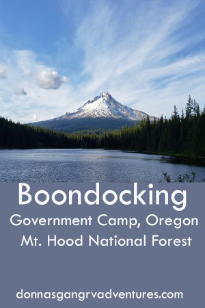 Boondocking in MT Hood National Forest